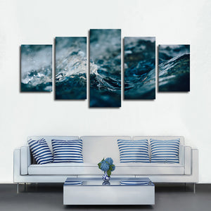 Ripples Multi Panel Canvas Wall Art - Surfing
