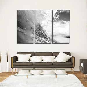 Riptide Multi Panel Canvas Wall Art - Surfing