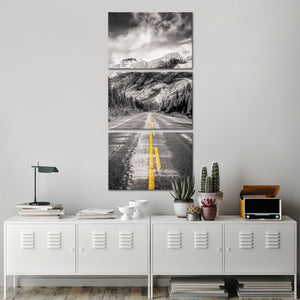 Rocky Road Multi Panel Canvas Wall Art - Motor