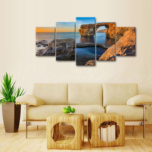 Rocky View Multi Panel Canvas Wall Art - Beach
