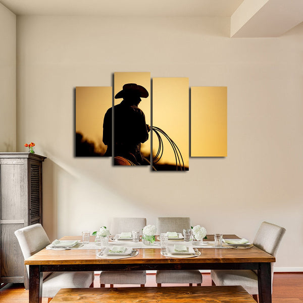 Rodeo Cowboy Multi Panel Canvas Wall Art | ElephantStock