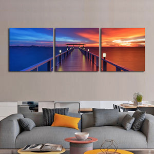 Romantic Boardwalk Multi Panel Canvas Wall Art - Relationship