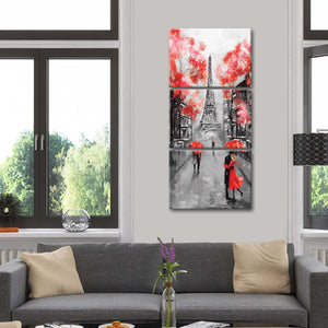 Romantic Paris Pop Multi Panel Canvas Wall Art - Paris