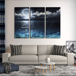 Romantic Night Multi Panel Canvas Wall Art - Relationship