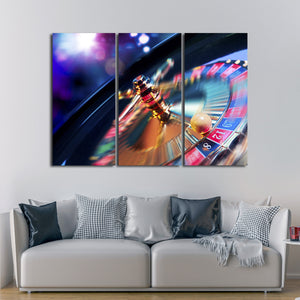Roulette Multi Panel Canvas Wall Art - Gambling