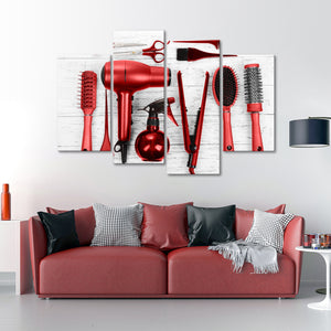 Ruby Cut Multi Panel Canvas Wall Art - Hair