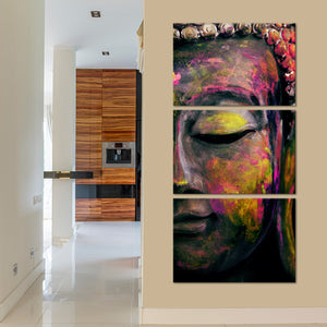 Ruby Tides Of Tranquility Multi Panel Canvas Wall Art - Buddhism