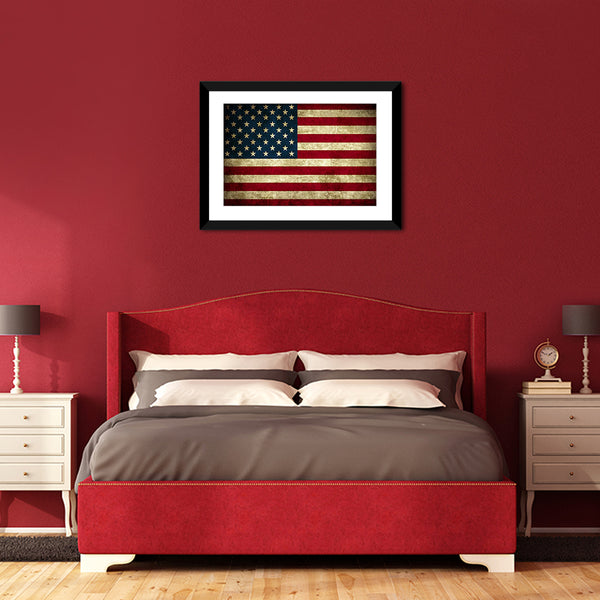Best Rustic American Flag Multi Panel Canvas Wall Art | ElephantStock LJ63