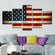 Rustic American Flag Multi Panel Canvas Wall Art