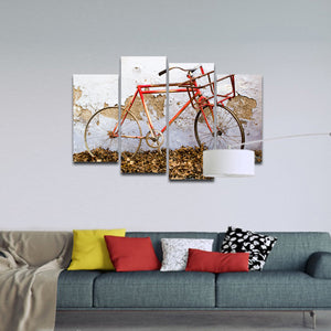 Rustic Bike Multi Panel Canvas Wall Art - Bicycle