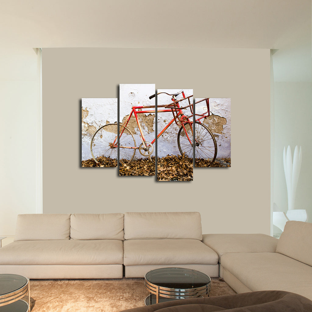 Rustic Bike Multi Panel Canvas Wall Art Elephantstock