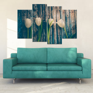 Rustic Blossoms Multi Panel Canvas Wall Art - Flower