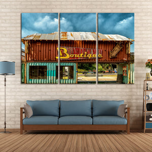 Rustic Boutique Multi Panel Canvas Wall Art - Cowboy