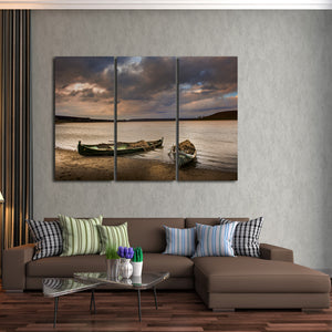 Rusting Fishing Boat Multi Panel Canvas Wall Art - Boat