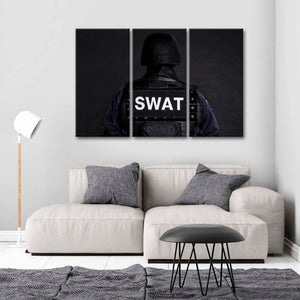 SWAT Multi Panel Canvas Wall Art - Police