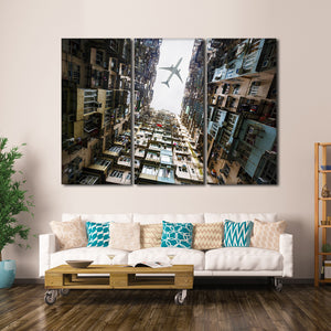 Safe Flight Multi Panel Canvas Wall Art - Airplane