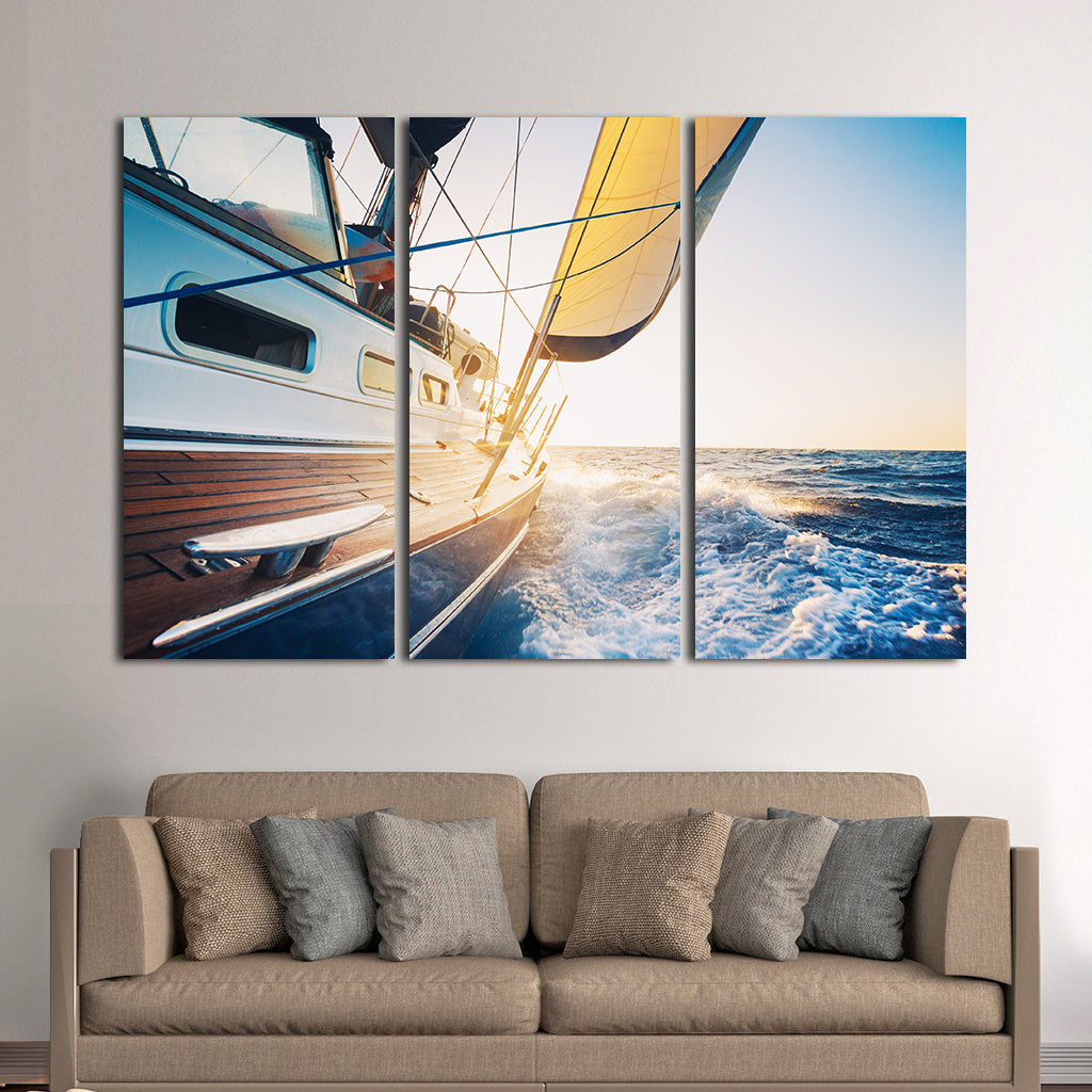 sail away with me multi panel canvas wall art elephantstock. Black Bedroom Furniture Sets. Home Design Ideas
