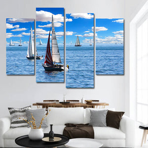 Sailboat Passion Multi Panel Canvas Wall Art - Boat