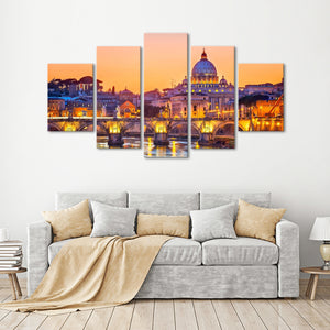 Saint Peter Cathedral Multi Panel Canvas Wall Art - City