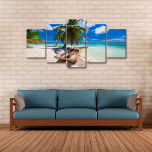 Saltwater Fishing Boats Multi Panel Canvas Wall Art - Boat