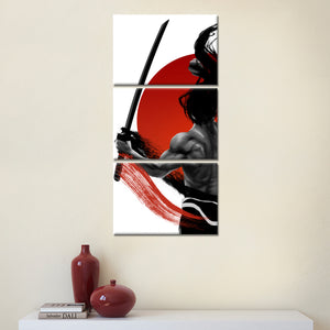 Samurai's Blade Multi Panel Canvas Wall Art - Japan