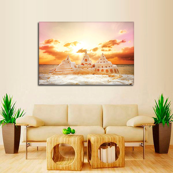 Sand Castle Multi Panel Canvas Wall Art | ElephantStock