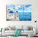 Santorini Island Multi Panel Canvas Wall Art