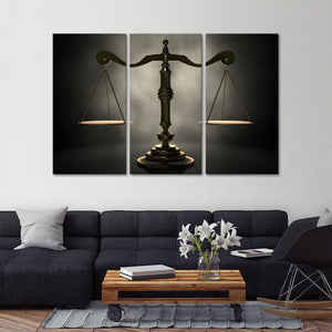 Scales of Justice Multi Panel Canvas Wall Art - Law