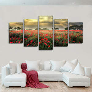 Scandinavian Blossom Multi Panel Canvas Wall Art - Nature