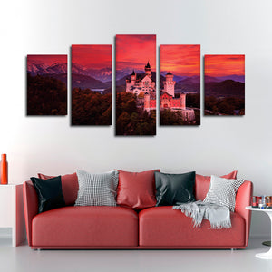 Scottish Castle Multi Panel Canvas Wall Art - Castle
