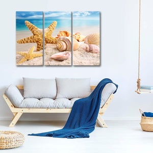 Seaside Treasures Multi Panel Canvas Wall Art - Nautical