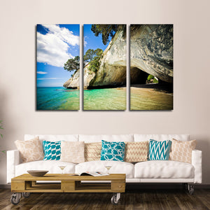 Secret Hideaway Multi Panel Canvas Wall Art - Beach