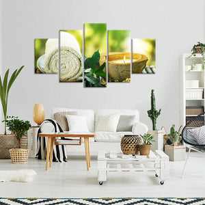 Serenity Multi Panel Canvas Wall Art - Spa