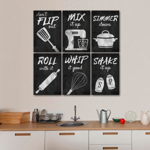 Cooking Motivation Canvas Set Wall Art - Kitchen