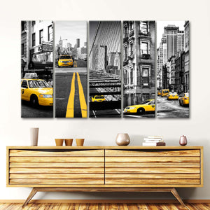 Seven Of NYC Multi Panel Canvas Wall Art - City