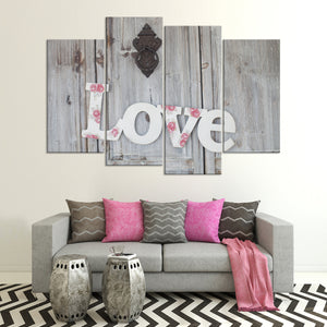 Lovely Home Entrance Multi Panel Canvas Wall Art - Relationship