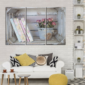 Home Accessories Multi Panel Canvas Wall Art - Shabby_chic