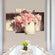 Beautiful Peonies Multi Panel Canvas Wall Art