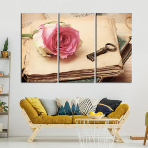 A Book Forever Multi Panel Canvas Wall Art - Shabby_chic