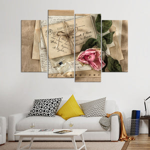 Sentimental Nostalgia Multi Panel Canvas Wall Art - Shabby_chic