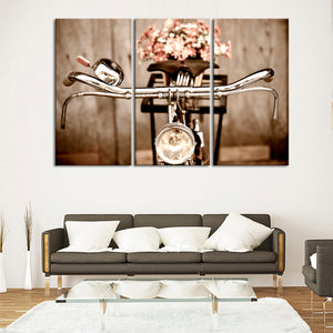 Vintage Bicycle Ride Multi Panel Canvas Wall Art - Bicycle