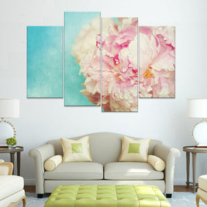 Peonies Multi Panel Canvas Wall Art - Flower