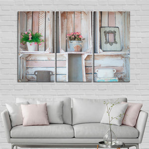Crate Arrangements Multi Panel Canvas Wall Art - Shabby_chic