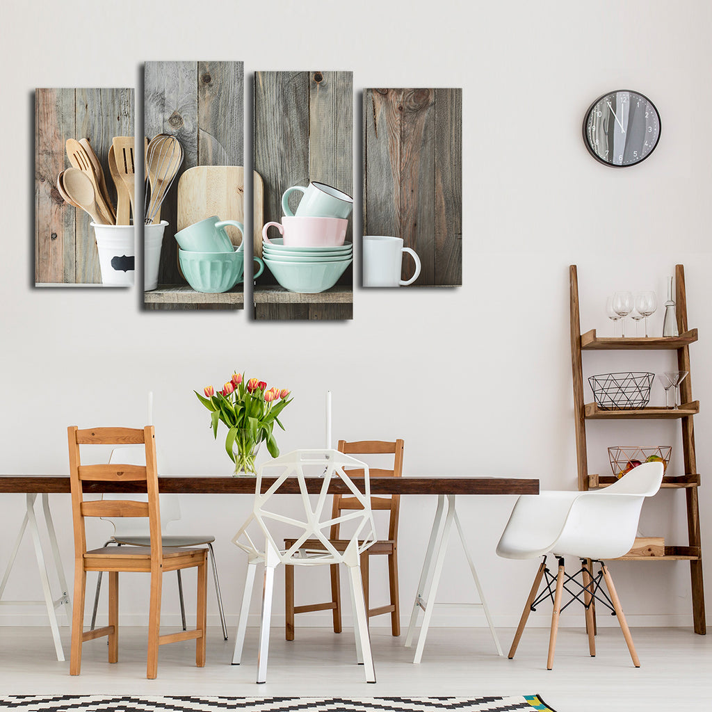 Shabby Chic Kitchens: Shabby Chic Kitchen Multi Panel Canvas Wall Art