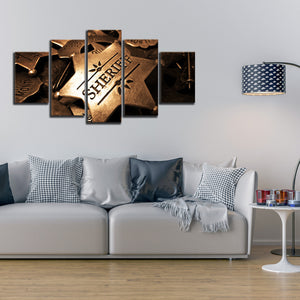 Sheriff Multi Panel Canvas Wall Art - Police