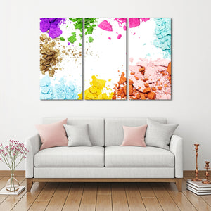 Shimmer Multi Panel Canvas Wall Art - Makeup