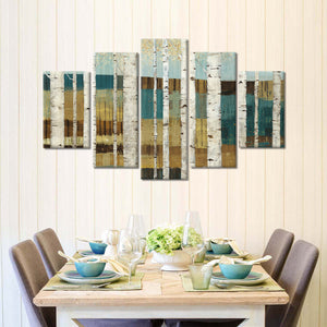 Shimmering Valley Multi Panel Canvas Wall Art - Nature