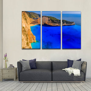 Shipwreck Bay Multi Panel Canvas Wall Art - Beach