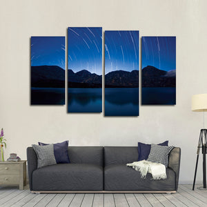 Shooting Star Multi Panel Canvas Wall Art - Astronomy