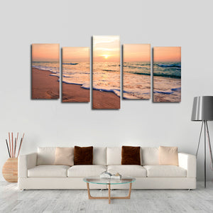 Shore Line Multi Panel Canvas Wall Art - Beach